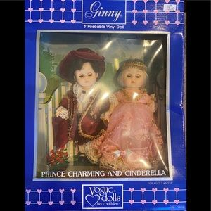 """Vogue 8"""" Ginny Pair Prince Charming and Cinderalla"""